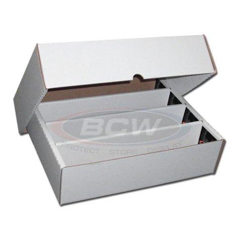BCW 3200 COUNT STORAGE BOX (FULL LID) 4-Row