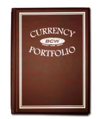 Currency Portfolio - Burgundy with 10x 3-Pocket 3 7/8 x 8 1/4 Pages