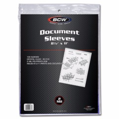 8.5 X 11 SLEEVE - Pack of 100