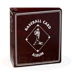 BCW 3 Inch Album - Baseball - Burgundy Red
