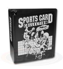 BCW 3 Inch Album - Sports Card Collector - Black - 1-ALB3C-SP-BLK