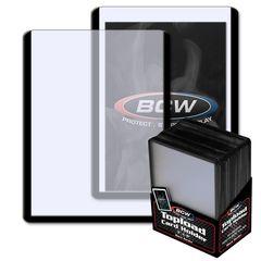 BCW 3 X 4 Topload Card Holder - Black Border - Pack of 25