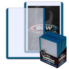 BCW 3 X 4 Topload Card Holder - Blue Border - Pack of 25