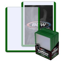 BCW 3 X 4 Topload Card Holder - Green Border - Pack of 25