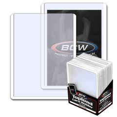 BCW 3 X 4 Topload Card Holder - White Border - Pack of 25