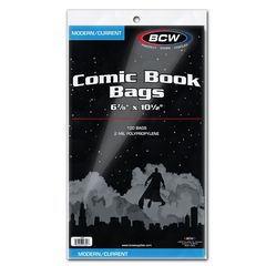 BCW Current Comic Book Bags - Pack of 100