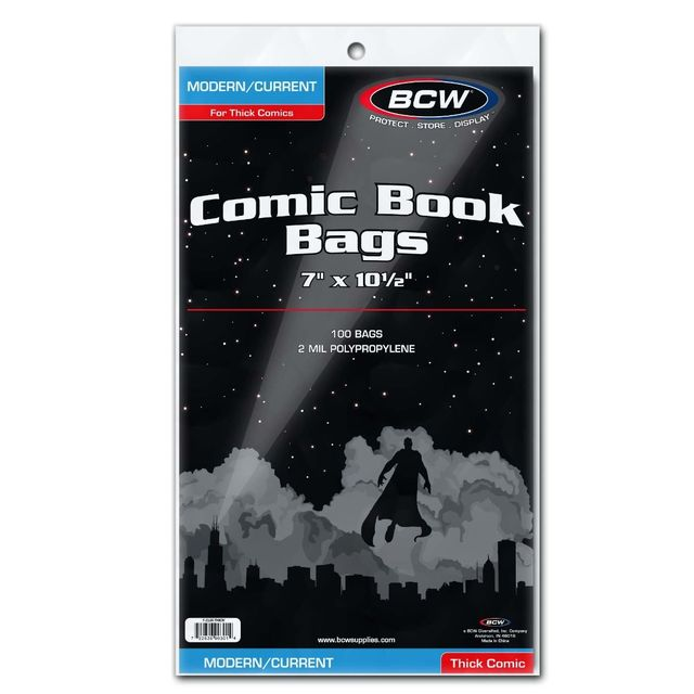 BCW Current Comic Book Bags - THICK Comics - Pack of 100