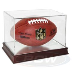 Football Display - Grandstand - UV Protection WITH Wood Base