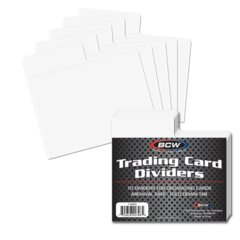 BCW TRADING CARD DIVIDER - HORIZONTAL - HINGED TAB - Pack of 10