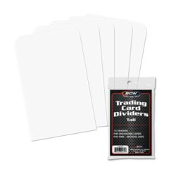 BCW TALL TRADING CARD DIVIDERS - Pack of 10