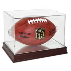 Football Display WITH Wood Base