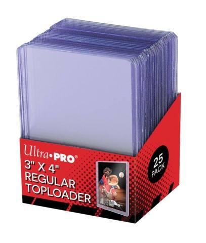 3x4 Standard 12 Mil Ultra PRO Toploaders - Pack of 25