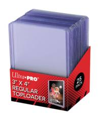 3x4 Standard 12 Mil Ultra PRO Toploaders - Pack of 25