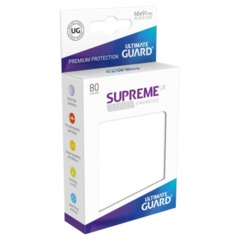 Supreme UX Sleeves Standard Size - White - 66 mm x 91 mm - Pack of 80