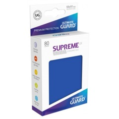 Supreme UX Sleeves Standard Size - Blue - 66 mm x 91 mm - Pack of 80