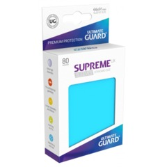 Supreme UX Sleeves Standard Size - Light Blue - 66 mm x 91 mm - Pack of 80