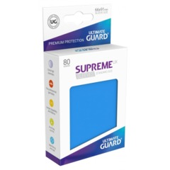 Supreme UX Sleeves Standard Size - Royal Blue - 66 mm x 91 mm - Pack of 80