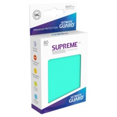 Supreme UX Sleeves Standard Size - Turquoise - 66 mm x 91 mm - Pack of 80