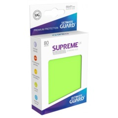 Supreme UX Sleeves Standard Size - Light Green - 66 mm x 91 mm - Pack of 80