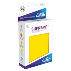 Supreme UX Sleeves Standard Size - Yellow - 66 mm x 91 mm - Pack of 80