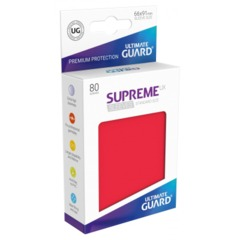 Supreme UX Sleeves Standard Size - Red - 66 mm x 91 mm - Pack of 80
