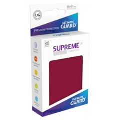 Supreme UX Sleeves Standard Size - Burgundy - 66 mm x 91 mm - Pack of 80