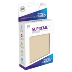 Supreme UX Sleeves Standard Size - Sand - 66 mm x 91 mm - Pack of 80