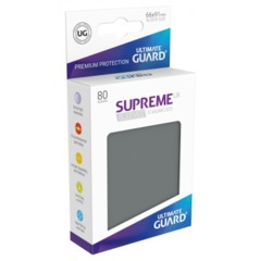 Supreme UX Sleeves Standard Size - Dark Gray - 66 mm x 91 mm - Pack of 80