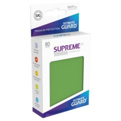Supreme UX Sleeves Standard Size - Green - 66 mm x 91 mm - Pack of 80