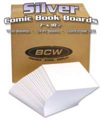 BULK SILVER AGE BACKING BOARDS - 7 X 10 1/2 - Case of 1000