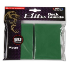 BCW Gaming DECK GUARD - ELITE - MATTE - GREEN - Pack of 80