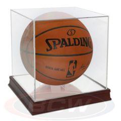 Basketball Holder - Grandstand WITH Wood Base