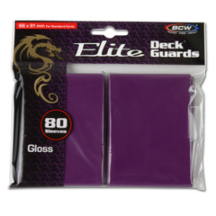 BCW Gaming DECK GUARD - ELITE - GLOSSY - MULBERRY - Pack of 80