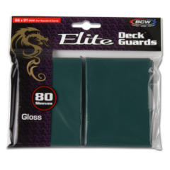 BCW Gaming DECK GUARD - ELITE - GLOSSY - TEAL - Pack of 80