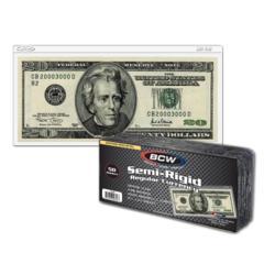 SEMI-RIGID BILL HOLDER - REGULAR BILL - Pack of 50