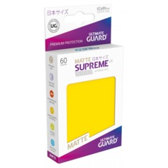 Supreme UX Sleeves Japanese Size - Yellow Matte - 62 mm x 89 mm - Pack of 60