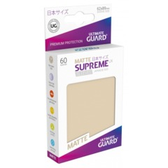 Supreme UX Sleeves Japanese Size - Sand Matte - 62 mm x 89 mm - Pack of 60