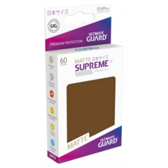 Supreme UX Sleeves Japanese Size - Brown Matte - 62 mm x 89 mm - Pack of 60