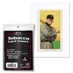 BCW INSERT SLEEVES - TOBACCO CARD - Pack of 25