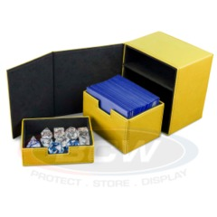 BCW Gaming COMMANDER DECK LOCKER - LX - YELLOW