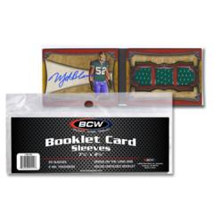 BCW BOOKLET CARD SLEEVES - 7 3/8 x 2 11/16 - Pack of 50
