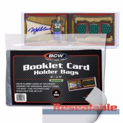 BCW BOOKLET CARD HOLDER RESEALABLE BAGS - Pack of 100