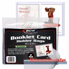BCW BOOKLET CARD HOLDER VERTICAL RESEALABLE BAGS - Pack of 100