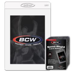 BCW SEMI-RIGID CARD HOLDER #1 - 3 5/16 X 4 15/16 - Pack of 50