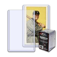 BCW TOBACCO CARD TOPLOAD HOLDER - 2 1/16 x 3 1/8 - Pack of 25