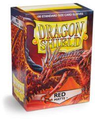 Dragon Shield Standard Sleeves Matte - Red