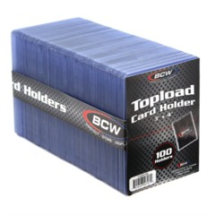 BCW 3 X 4 TOPLOAD CARD HOLDER STANDARD - Pack of 100