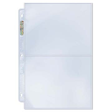 Ultra PRO 2-Pocket Pages - 5x7 Pockets - Box of 100 Sheets
