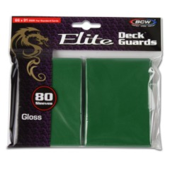 BCW Gaming DECK GUARD - ELITE - GLOSSY - GREEN - Pack of 80