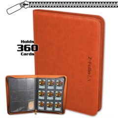 BCW Gaming Z-FOLIO 9-POCKET LX ALBUM - ORANGE